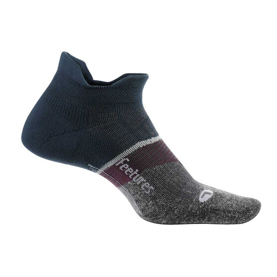 Feetures Elite Cushion No Show Tab Socks, Navy, rebel_hi-res