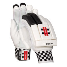Gray Nicolls GN 700 Junior Cricket Batting Gloves Black Youth Right Hand, Black, rebel_hi-res