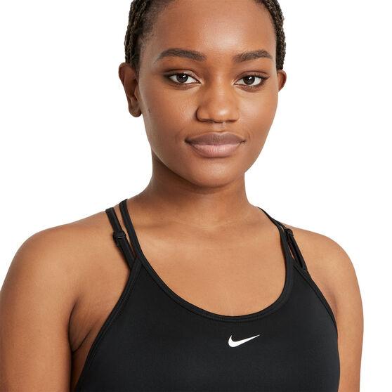 Nike Womens Dri-FIT One Tank, Black, rebel_hi-res