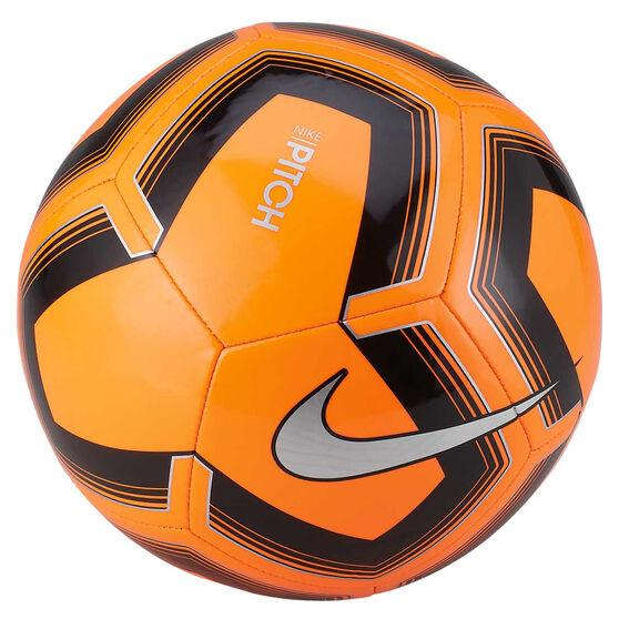Nike Pitch Training SP19 Soccer Ball, Orange / Black, rebel_hi-res