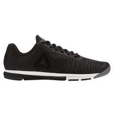Reebok Speed Trainer Flexweave Mens Training Shoes Grey / Black US 7, Grey / Black, rebel_hi-res