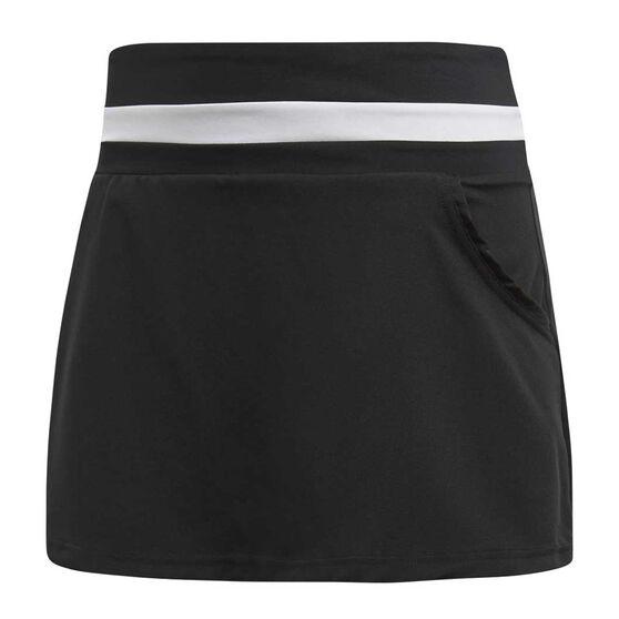 adidas Womens Club Tennis Skirt Black L, Black, rebel_hi-res