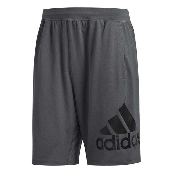 adidas Mens 4KRFT Badge of Sport 9in Knit Training Shorts, Grey, rebel_hi-res