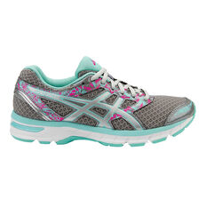 Asics GEL Excite 4 Womens Running Shoes Silver / Blue US 6, Silver / Blue, rebel_hi-res