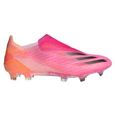 adidas X Ghosted + Football Boots Pink US Mens 9 / Womens 10, Pink, rebel_hi-res