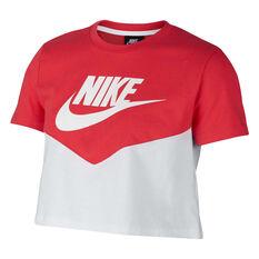 c562381c09c00 clearance. Nike Womens Sportswear Heritage Crop Tee White XS, White,  rebel_hi-res ...