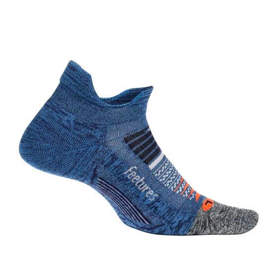 Feetures Elite Cushion No Show Tab Socks, Blue, rebel_hi-res