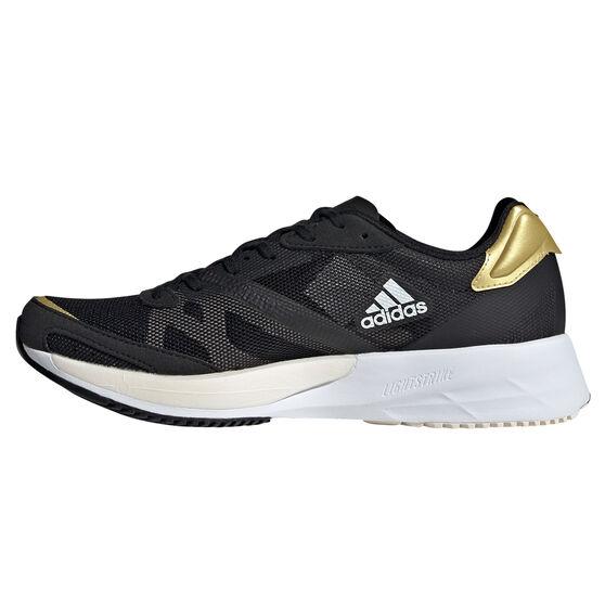 adidas Adizero Adios 6 Womens Running Shoes, Black/White, rebel_hi-res