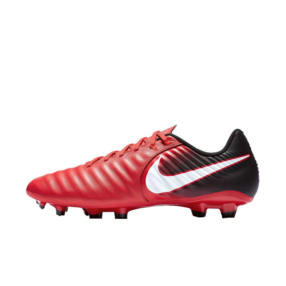 fce28ba010a Nike Tiempo Ligera IV Mens Football Boots Red   White US 7 Adult ...