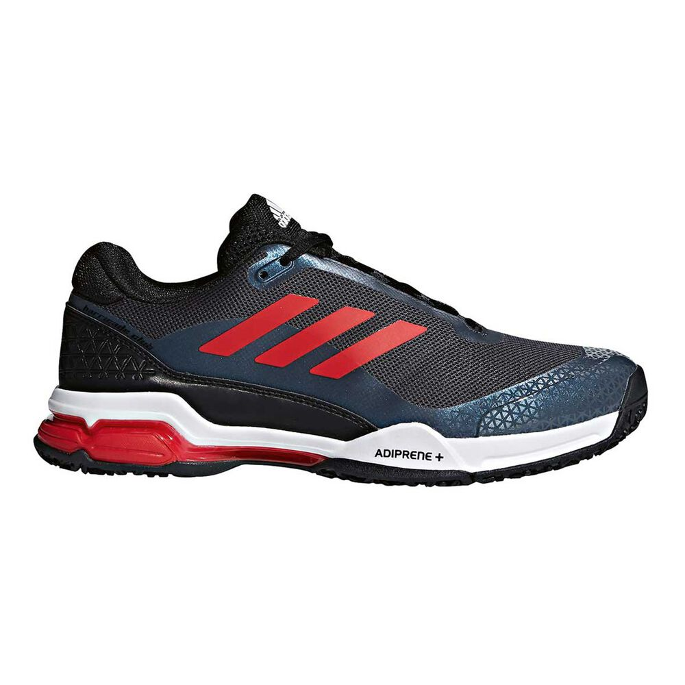 dad90bff037038 adidas Barricade Club OC Mens Tennis Shoes Grey   Red US 10.5 ...