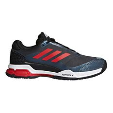 adidas Barricade Club OC Mens Tennis Shoes Grey / Red US 7, Grey / Red, rebel_hi-res