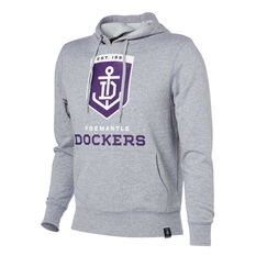 Fremantle Dockers 2018 Mens Hoodie Grey S, Grey, rebel_hi-res
