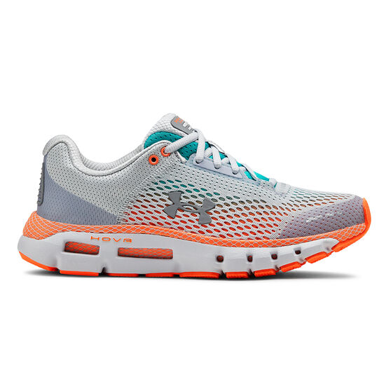 Under Armour HOVR Infinite Womens Running Shoes, Grey / Blue, rebel_hi-res