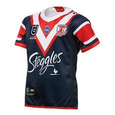 Sydney Roosters 2019 Kids Home Jersey Blue / Red 8, Blue / Red, rebel_hi-res