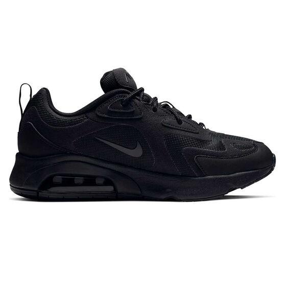 Nike Air Max 200 Womens Casual Shoes, Black, rebel_hi-res