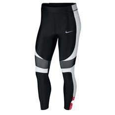 Nike Womens Speed 7/8 Running Tights Black / White XS, Black / White, rebel_hi-res