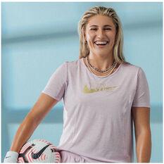 Nike Womens Icon Clash 10K Running Tee Pink XS, Pink, rebel_hi-res