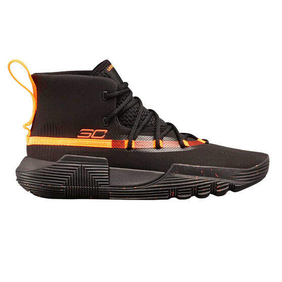 Under Armour SC 3ZERO II Kids Basketball Shoes, Black, rebel_hi-res