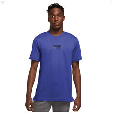 Nike Mens Dri-Fit Short Sleeve Graphic Training Tee Blue S, Blue, rebel_hi-res