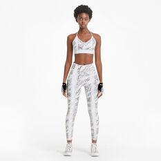 Puma Womens Untamed 7/8 Training Tights, White, rebel_hi-res