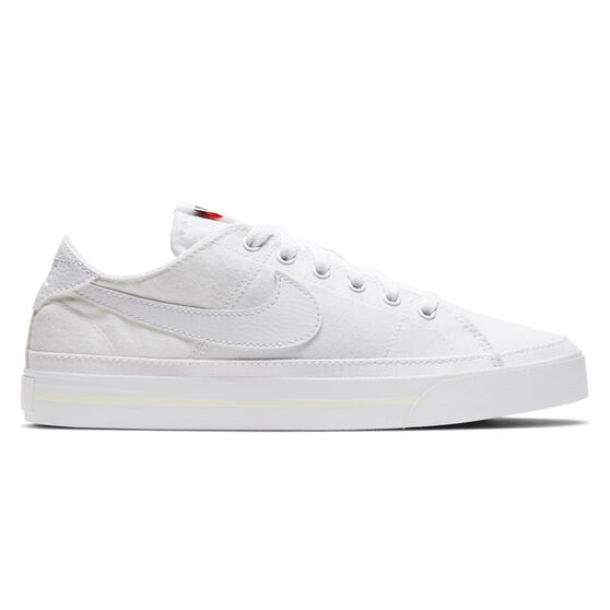 Nike Court Legacy Canvas Womens Casual Shoes, White, rebel_hi-res