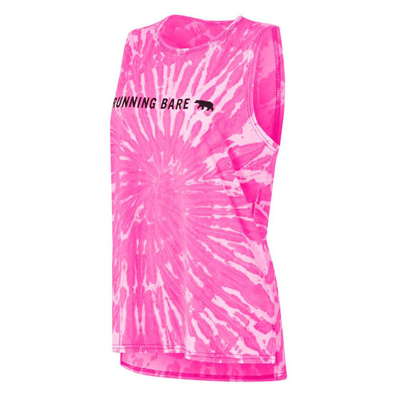 Running Bare Womens Easy Rider Muscle Tank, Pink, rebel_hi-res
