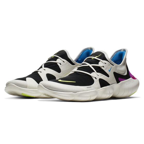 Nike Free RN 5.0 Mens Running Shoes, White / Yellow, rebel_hi-res