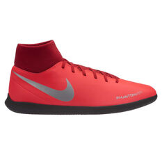 Nike Phantom Vision Club Mens Indoor Soccer Shoes Red / Silver US 7, Red / Silver, rebel_hi-res