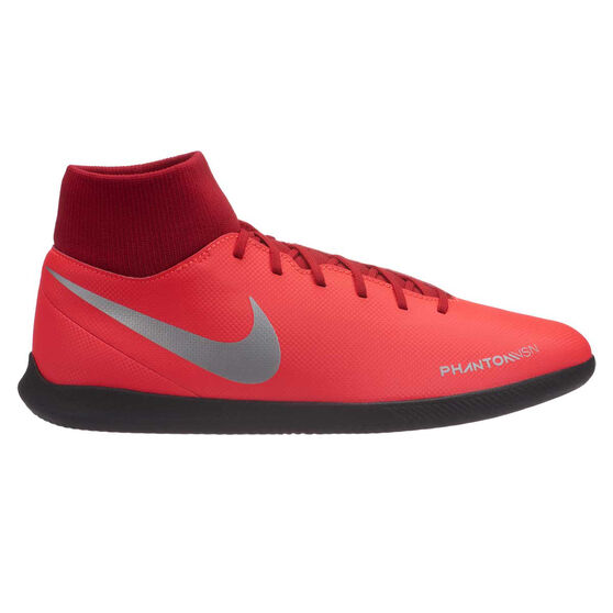 Nike Phantom Vision Club Mens Indoor Soccer Shoes, Red / Silver, rebel_hi-res