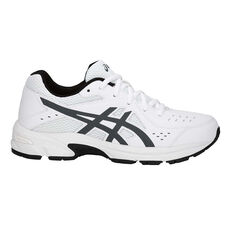 Asics Gel 195TR Leather Boys Running Shoes White / Grey US 1, White / Grey, rebel_hi-res