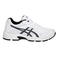 8d74ae69ec92 Asics Gel 195TR Leather Boys Running Shoes White   Grey US 1