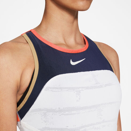 NikeCourt Womens Slam Tennis Tank, White, rebel_hi-res