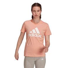 adidas Womens Essentials Big Logo Tee Pink XS, , rebel_hi-res