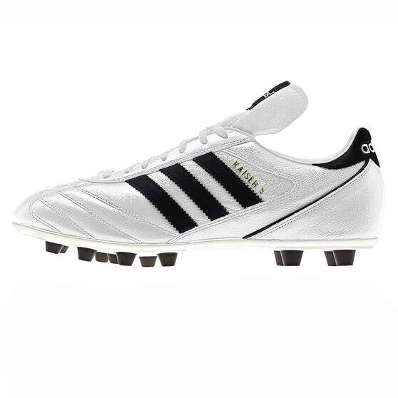 size 40 cf269 4a179 adidas Kaiser 5 Liga Mens FG Football Boots White   Black US 11 Adult, White