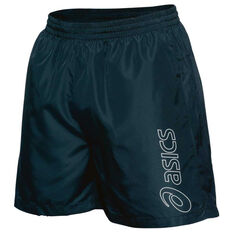 Asics Mens Essential Logo 5in Shorts Black S Adult, Black, rebel_hi-res