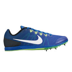 Nike Zoom Rival D 9 Mens Track and Field Shoes Blue / White US 11, Blue / White, rebel_hi-res