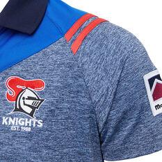 Newcastle Knights 2020 Mens Polo Grey S, Grey, rebel_hi-res