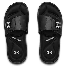 Under Armour Ignit IX Womens Slides Black / White US 6, Black / White, rebel_hi-res
