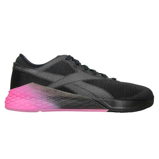 Reebok Nano 9 Mens Training Shoes, Black/Grey, rebel_hi-res