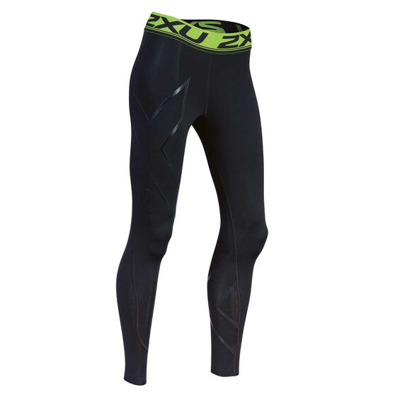 2XU Womens Refresh Recovery Compression Tights, Black, rebel_hi-res