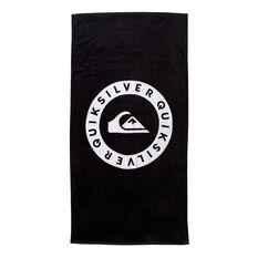 Quiksilver Logo Towel Black OSFA, Black, rebel_hi-res