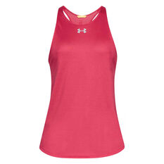 Under Armour Womens Qualifier HexDelta Tank Pink XS, Pink, rebel_hi-res