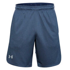 Under Armour Mens Knit Performance Training Shorts Blue S, Blue, rebel_hi-res