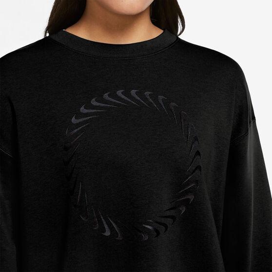 Nike Womens Sportswear Icon Clash Crew Sweater, Black, rebel_hi-res
