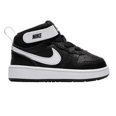 Nike Court Borough Mid 2 Toddlers Shoes Black / White US 5, Black / White, rebel_hi-res