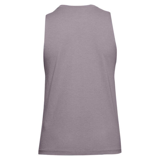 Under Armour Womens Sportstyle Graphic Muscle Tank, Purple, rebel_hi-res
