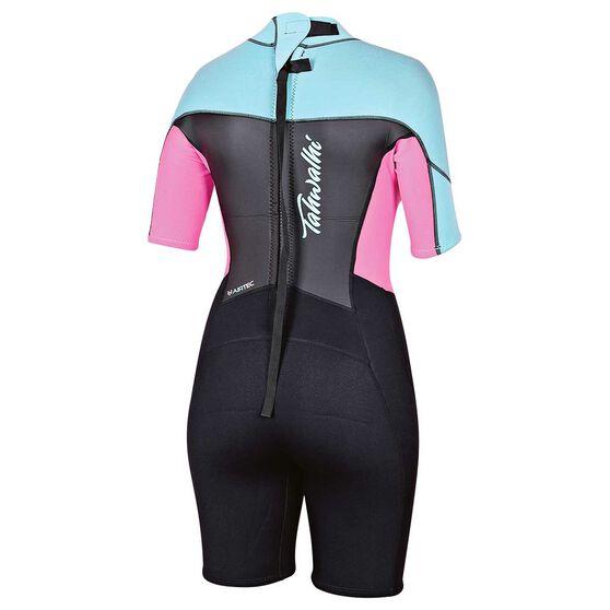 Tahwalhi Womens Spring Wetsuit, Black / Black / Turquoise, rebel_hi-res