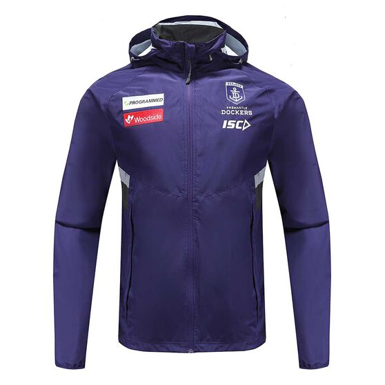 Fremantle Dockers 2020 Mens Wet Weather Jacket Purple S, Purple, rebel_hi-res