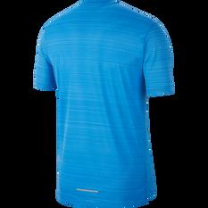 Nike Mens Dri-FIT Miler Short Sleeve Running Top Blue S, Blue, rebel_hi-res