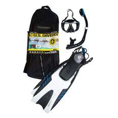 US Divers Explorer Snorkel and Fin Set Assorted S / M, Assorted, rebel_hi-res